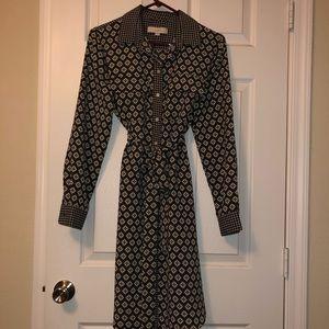 Loft Long Sleeved Shirt Dress